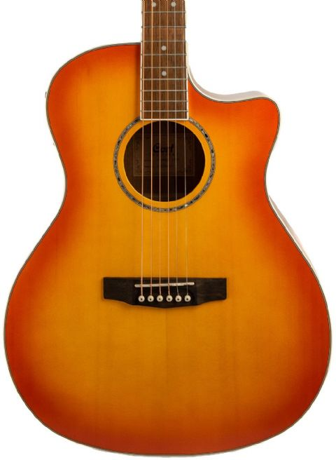 Cort GA MED X Light Vintage Burst Electro Acoustic With Gigbag